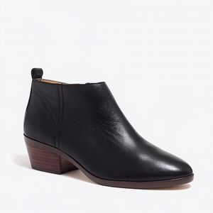 J. crew black leather sawyer booties boot